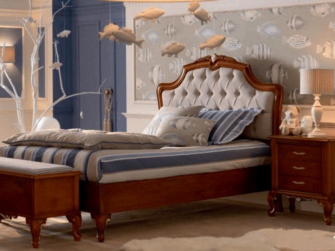 Кровать Letto  con  giroletto  e  testata  capitonné 15