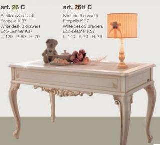 Стол с тремя ящиками Scrivania  3  cassetti 26