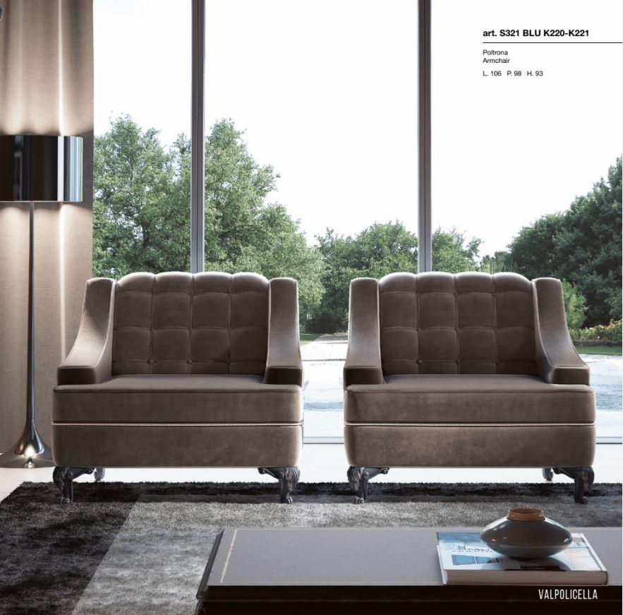 Valpolicella Кресло S321  BLU  K220-K221
