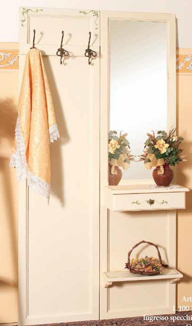 Complementi Прихожая (панель, 3 вешалки, зеркало) 17745/24