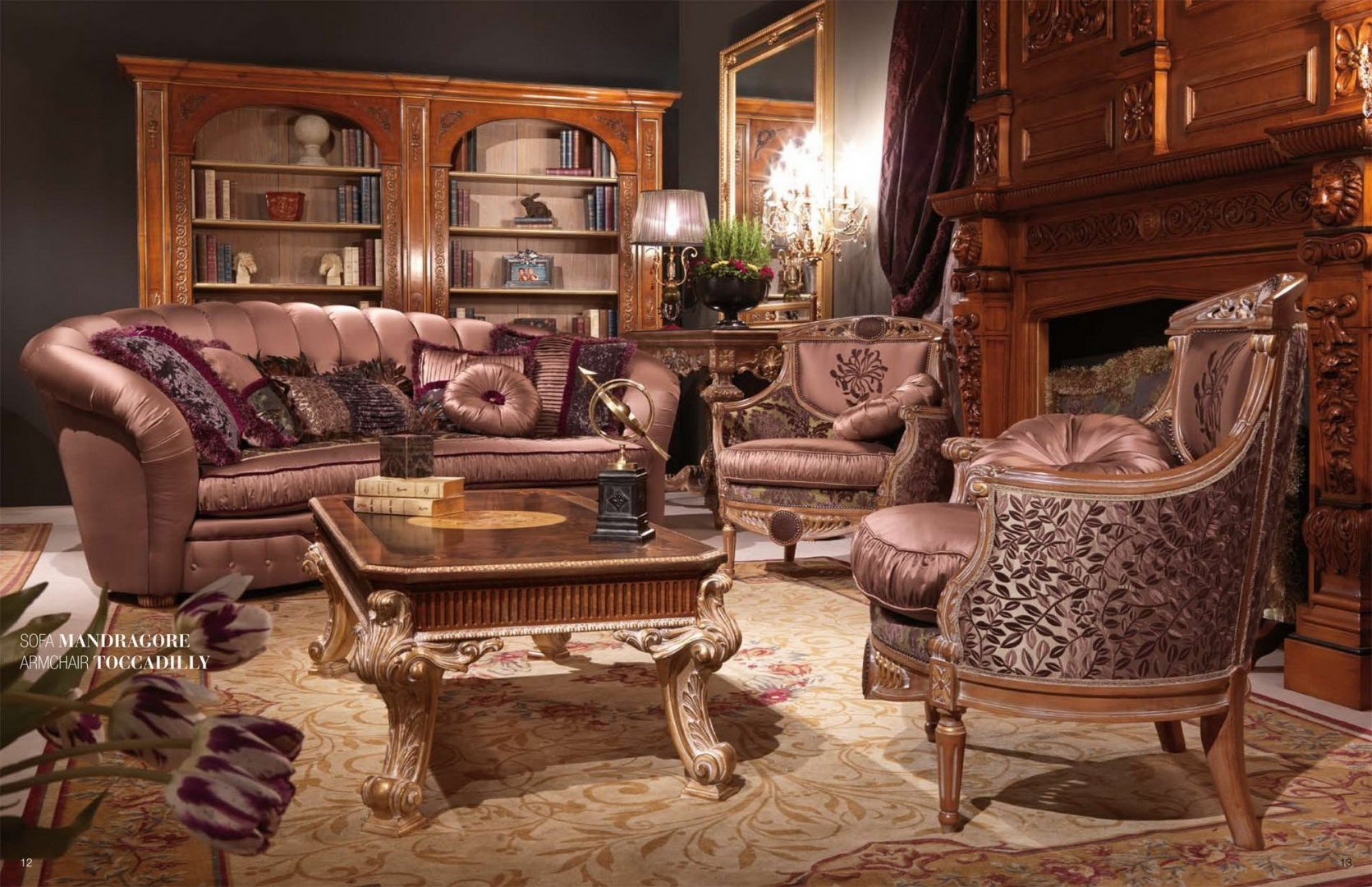 MANDRAGORE комплект мягкой мебели (диван+2кресла) IM529