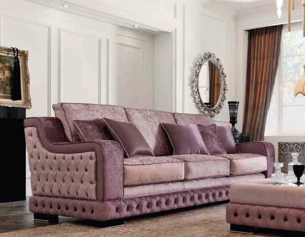 GIORGIO CASA диван 3х местный лиловый S143