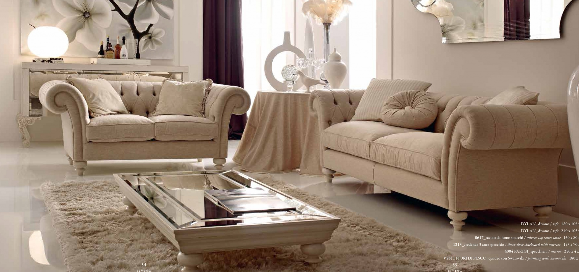 DYLAN комплект мягкой мебели современный DYLAN 117948