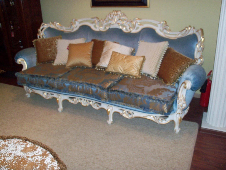 RAMPOLDI диван 3-ой с декор.подушками/7 шт./ AGRI32