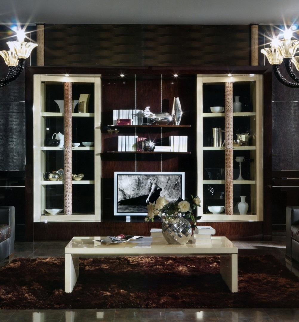 Charme Книжный шкаф с местом под TV 4 стекл.дверцы R116LS RT13 208P